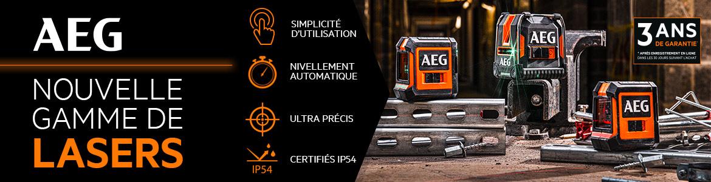 La gamme de laser AEG : des instruments de mesure adaptés à tous les chantiers