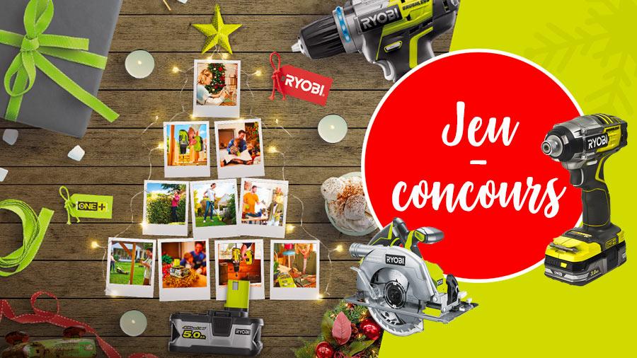 Jeu-concours RYOBI bricolage spécial Noël 2019