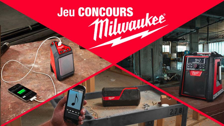 Jeu-concours radio de chantier Milwaukee