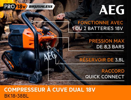 Compresseur de chantier 18 Volts AEG