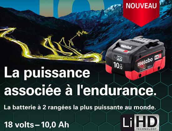 Batterie 10,0 Ah Metabo