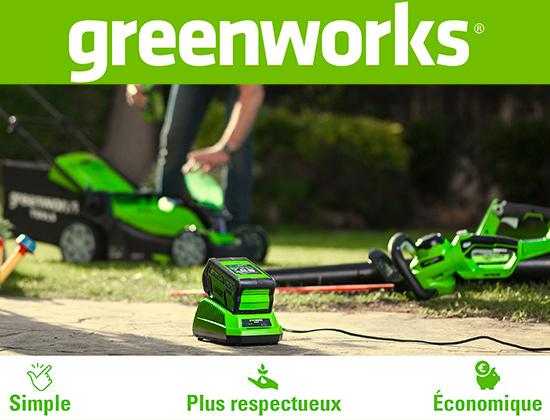 Outils jardin sur batterie Greenworks