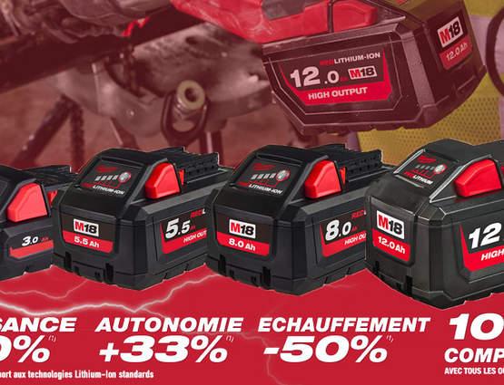 Milwaukee dévoile sa nouvelle gamme de batteries M18 HIGH OUTPUT