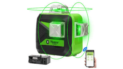 3x360 Niveau laser croix vert avec bluetooth HUEPAR 603CG-BT