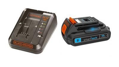 test et avis Batterie et chargeur SmartTech 18 V 1.5 Ah smarttech black+decker prix pas cher