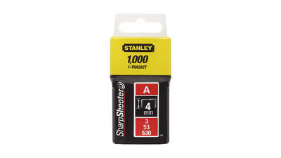 Agrafes 4 mm type A Stanley 1-TRA202T