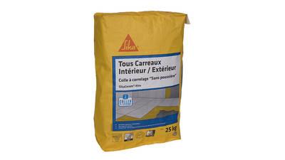 Avis et prix Colle à carrelage Sika pour carreaux 60x60 max (C2TE) - SikaCeram Xtra - Blanc - 25kg