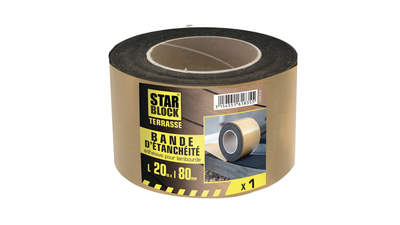 Bande d'étanchéité lambourdes Mousse EPDM pour terrasse STARBLOCK 430984