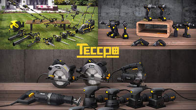 Gammes électroportatif, travail du bois et jardin Teccpo