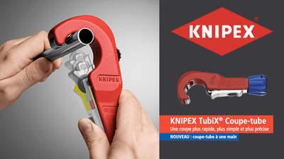 KNIPEX TubiX : nouveau coupe-tube polyvalent pour les plombiers