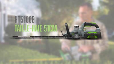 EGO Power+ HT5100E : le nouveau taille-haies sans-fil brushless EGO