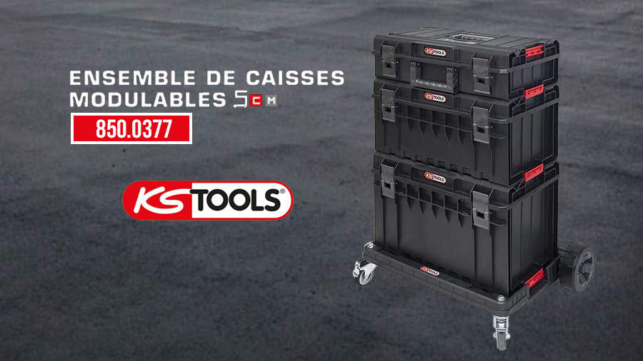 SCM 850.0377 : l'ensemble de caisses modulables pratique de KS Tools