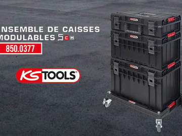 SCM 850.0377 : l'ensemble de caisses modulables pratique de KS Tools