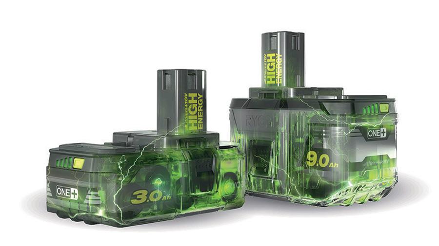Batterie HIGH ENERGY Lithium+ 18V 3,0 et 9,0 Ah RYOBI