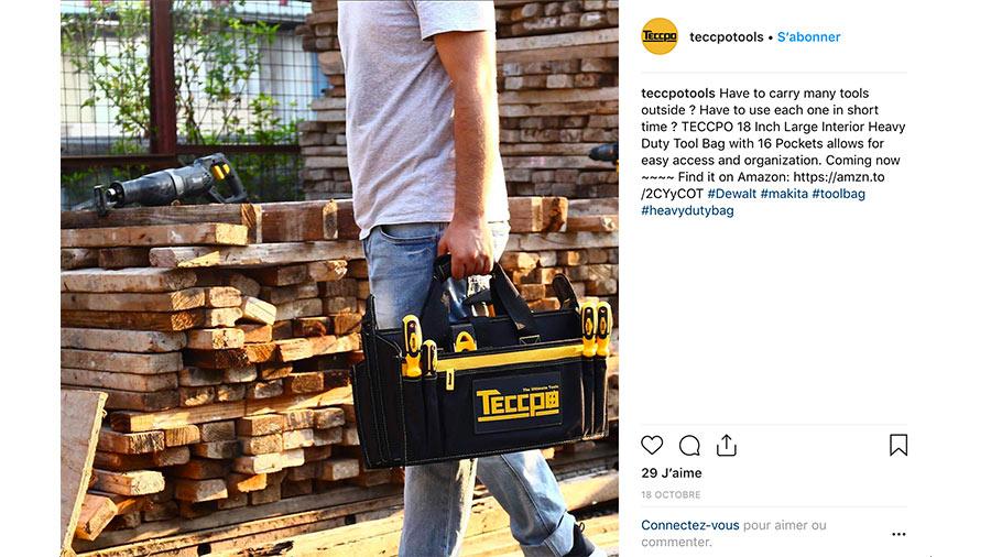 Teccpo instagram concurrence Dewalt Makita