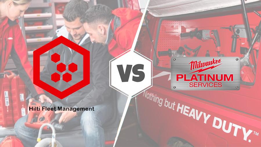 Fleet Management Hilti ou Platinum Services Milwaukee : qui propose le meilleur contrat de location d'outils ?