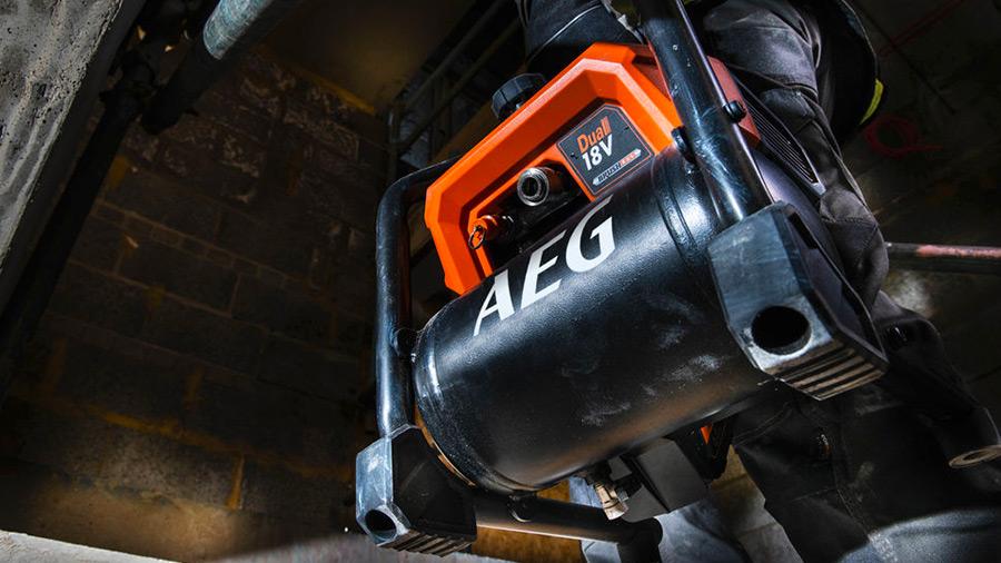 BK18-38BL AEG : un compresseur de chantier 18 V autonome et efficace