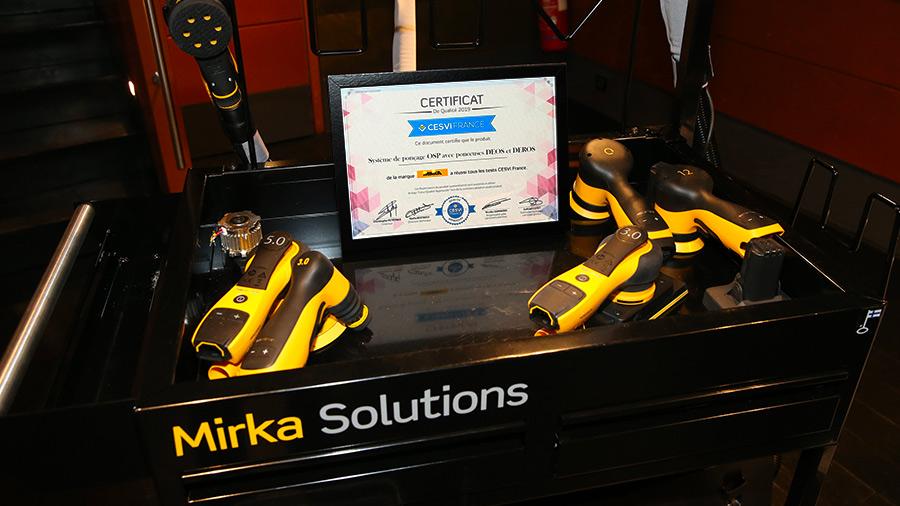 Le système OSP Mirka obtient la labellisation CESVI FRANCE